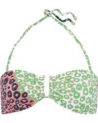 10 Crosby Derek Lam - Printed Bandeau Bikini Top - Lyst