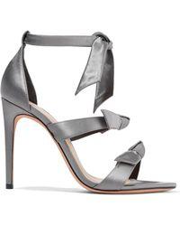 Alexandre Birman - Knotted Satin Sandals - Lyst