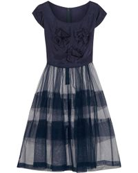 Comme des Garçons - Bow-embellished Taffeta And Tulle Dress - Lyst