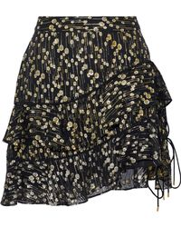 10 Crosby Derek Lam - Tiered Fil Coupé Silk-blend Chiffon Mini Skirt - Lyst