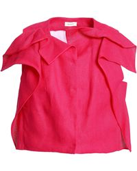 Delpozo - Cropped Linen Top - Lyst