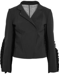 Paskal | Tulle-paneled Ruffle-trimmed Cady Jacket | Lyst
