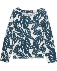 Mikoh Swimwear - Australia Frayed Printed Cotton Coverup - Lyst
