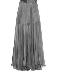 Amanda Wakeley | Metallic Silk-chiffon Maxi Skirt | Lyst
