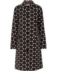 Michael Kors - Polka-dot Cotton And Silk-blend Matelassé Coat - Lyst