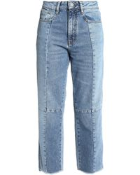 Maje - Faded High-rise Straight-leg Jeans - Lyst