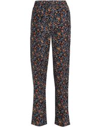 Isabel Marant - Printed Silk Straight-leg Trousers - Lyst