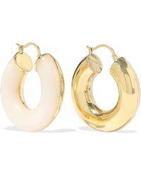 Noir Jewelry - Arc Beam 14-karat Gold-plated Resin Hoop Earrings - Lyst