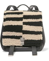 Proenza Schouler | Courier Striped Shearling And Leather Backpack | Lyst