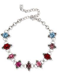 DANNIJO - Woman Odell Oxidized Silver Crystal Choker Multicolor Size -- - Lyst