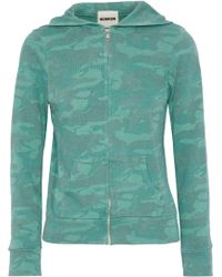 Monrow - Printed Knitted Hooded Jacket - Lyst