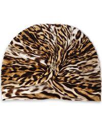 Roberto Cavalli - Ruched Leopard-print Jersey Turban - Lyst