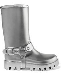 Dolce & Gabbana - Metallic Rubber Rain Boots - Lyst