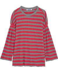 Steve J & Yoni P - Striped Ribbed Cotton Top - Lyst