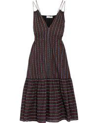 Apiece Apart - Daphne Printed Cotton-poplin Dress - Lyst