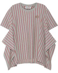 Opening Ceremony - Striped Stretch-cotton Jersey T-shirt - Lyst