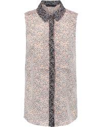 Marc By Marc Jacobs - Karoo Printed Silk Top Ecru Ok Size Xs - Lyst