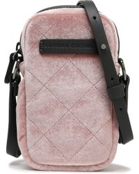 Brunello Cucinelli - Woman Leather-trimmed Quilted Velvet Tablet Case Antique Rose - Lyst