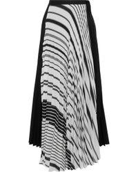 TOME - Woman Plissé Printed Poplin Maxi Wrap Skirt White - Lyst