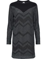 M Missoni - Ponte-paneled Metallic Crochet-knit Mini Dress - Lyst