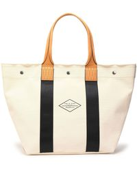 Rag & Bone - Leather-trimmed Cotton-canvas Tote - Lyst