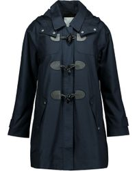 Joie - Hester Cotton Hooded Coat Midnight Blue - Lyst
