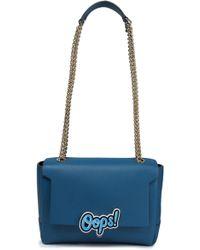 Anya Hindmarch - Bathurst Embellished Leather Shoulder Bag Cobalt Blue - Lyst