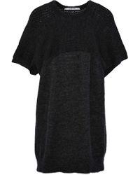 Chalayan - Paneled Open-knit Sweater - Lyst