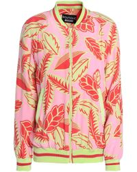 Boutique Moschino - Printed Faille Bomber Jacket - Lyst