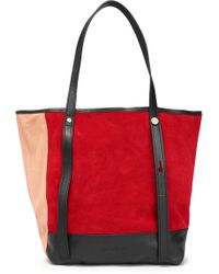 See By Chloé - Andy Color-block Suede Tote - Lyst