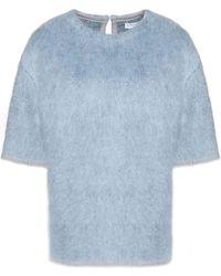 Vionnet - Mohair-blend Felt Sweater Sky Blue - Lyst