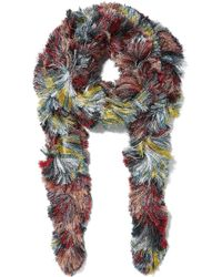 Missoni - Fringed Metallic Knitted Scarf - Lyst