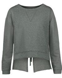 W118 by Walter Baker - Luca Open-back Stretch-cotton Jersey Sweatshirt Dark Green - Lyst