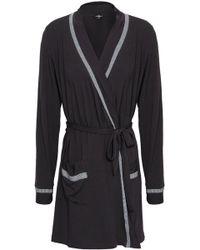 Cosabella - Woman Hustle Stretch-modal Robe Charcoal - Lyst