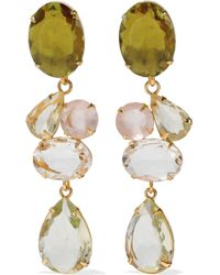 Bounkit - Convertible Gold-tone Crystal Earrings - Lyst