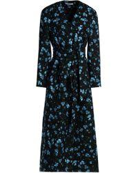 Emilia Wickstead - Belted Floral-print Wool-twill Coat - Lyst