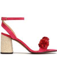 Castaner - Pompom-embellished Suede Sandals - Lyst