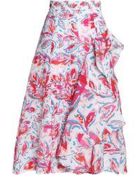 Peter Pilotto - Ruffled Printed Cloqué Skirt - Lyst