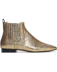 JOSEPH - Glittered Leather Ankle Boots - Lyst