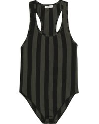 Nina Ricci - Striped Stretch-jersey Bodysuit - Lyst