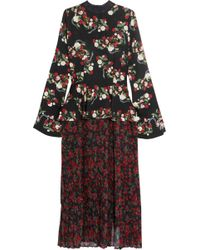 Mother Of Pearl | Andres Floral-print Silk Dress | Lyst
