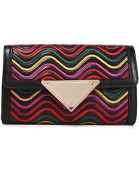Sara Battaglia - Embroidered Leather Shoulder Bag - Lyst