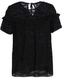 Needle & Thread - Ruffled Embroidered Georgette Top - Lyst