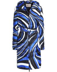 Emilio Pucci - Printed Quilted Shell Hooded Down Coat - Lyst
