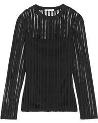 T By Alexander Wang - Cutout Stretch Cotton-blend Jersey Top - Lyst