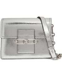 Michael Kors - Cate Cracked Mirrored-leather Shoulder Bag - Lyst