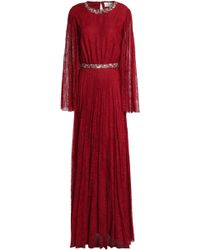 Sachin & Babi - Embellished Pleated Corded Lace Gown - Lyst