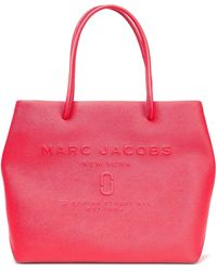 Marc Jacobs East/west Embossed Textured-leather Tote Red