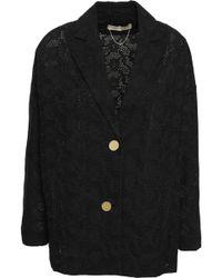 Vanessa Bruno Broderie Anglaise Cotton Blazer Black