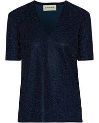 By Malene Birger - Glitasis Metallic Stretch-knit Top - Lyst